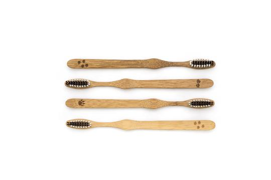 Brosses à dents en Bambou (Pack de 4) - Bio