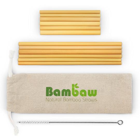 Pailles en Bambou réutilisables - Bio