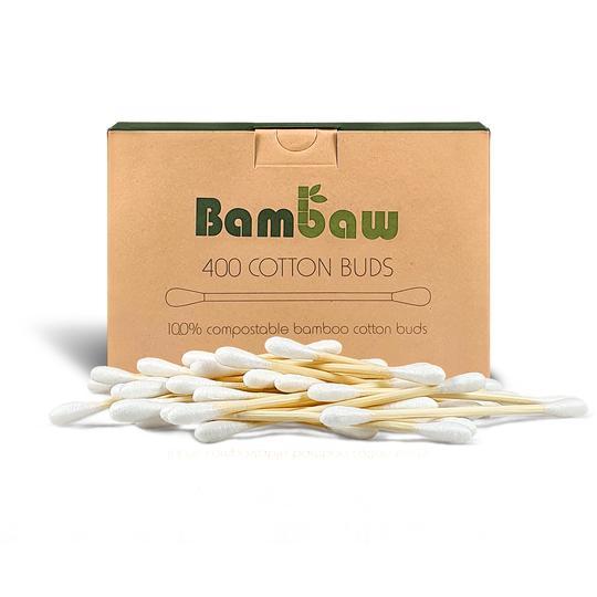Coton-tiges en Bambou - 400 unités