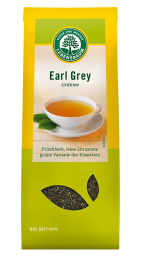 [LE004] Earl Grey green tea, aromatised - organic