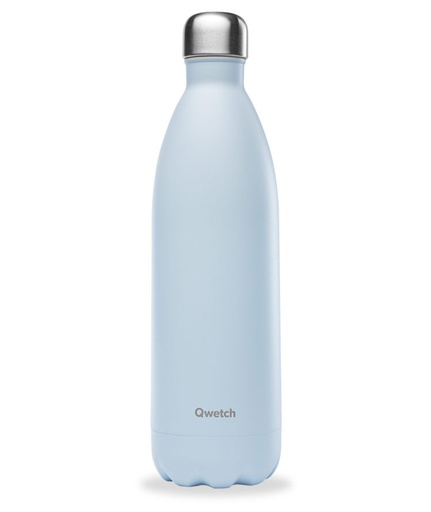 [QW007] Isotherme flasche - Pastell blau - 1L