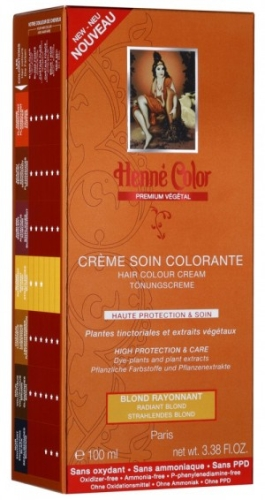 [NJ024] Henné Color Premium Blond Rayonnant - Crème colorante
