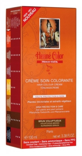 [NJ025] Henné Color Premium Voluptuous Brown - Färbecreme