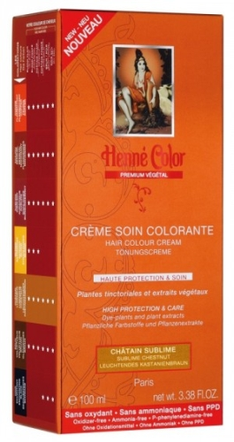 [NJ026] Henné Color Premium Luminous Chestnut - Färbecreme