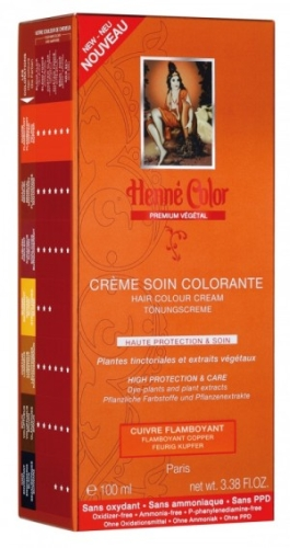 [NJ027] Henné Color Premium Flammendes Kupfer - Färbecreme